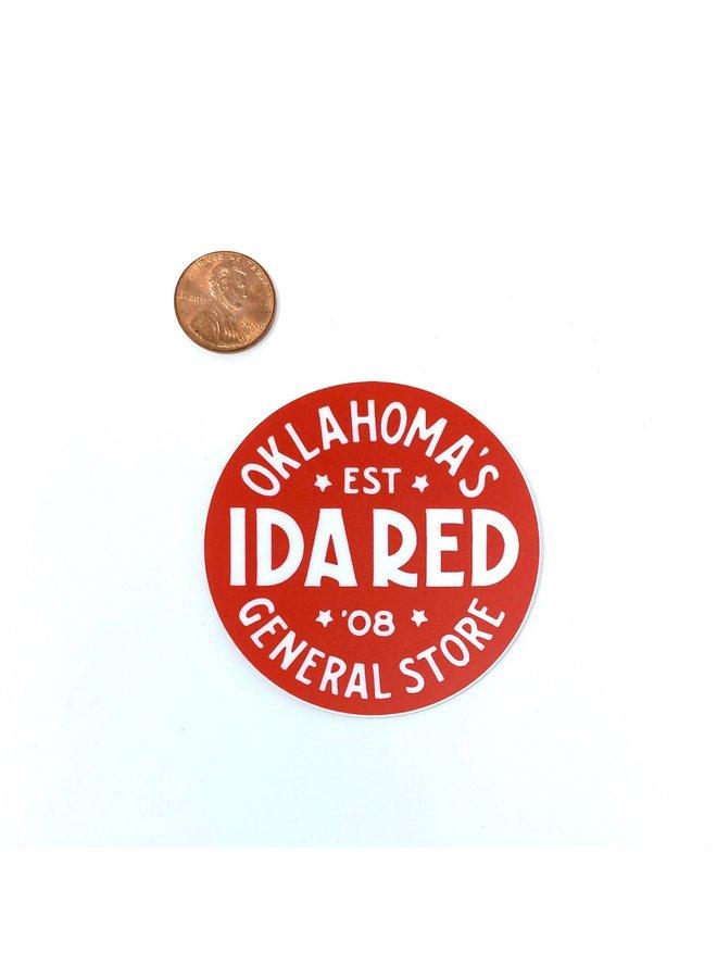 Ida Red Logo Sticker