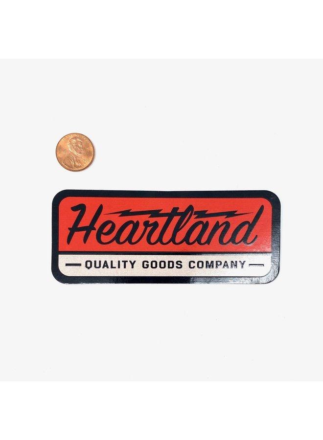 Heartland Red Logo Sticker