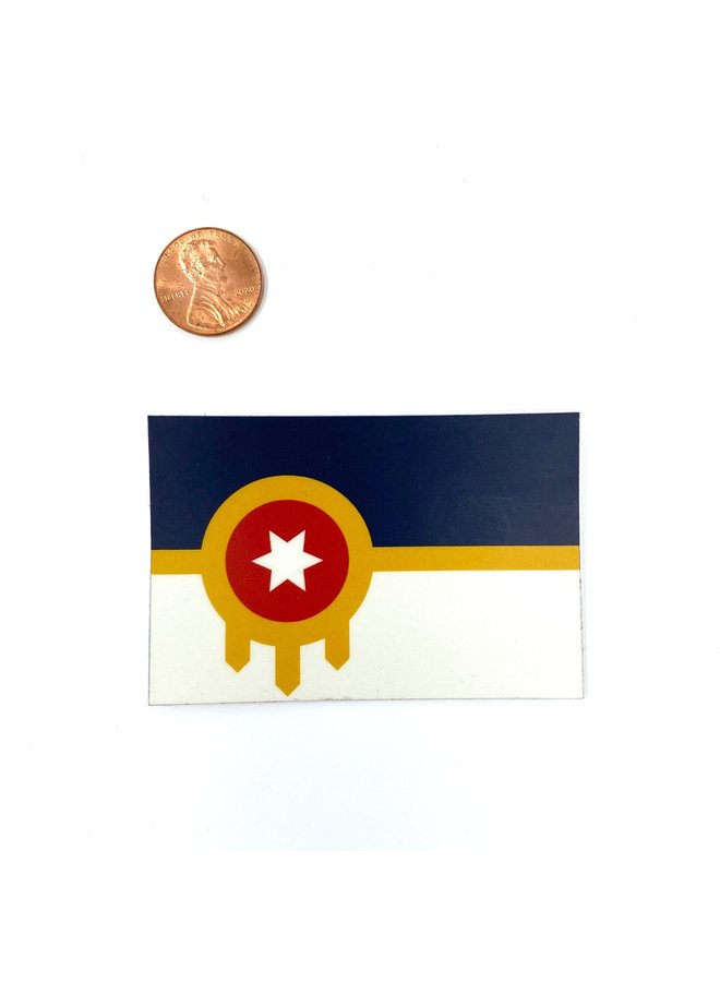 Tulsa Flag Sticker Small