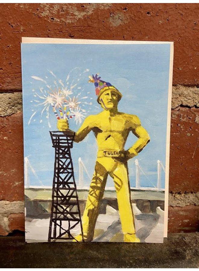 The Golden Driller Birthday Card