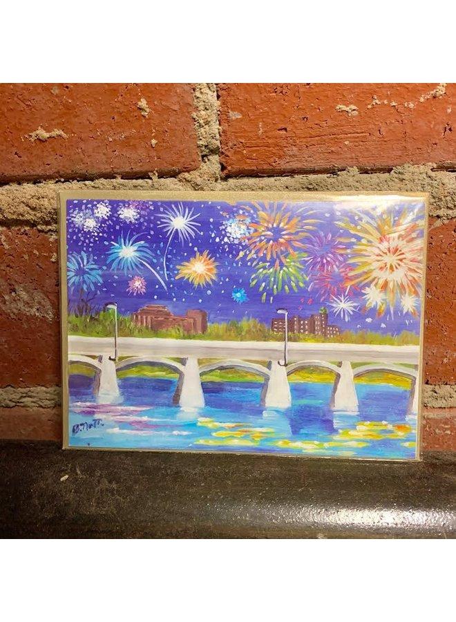 Fireworks Bridge Card