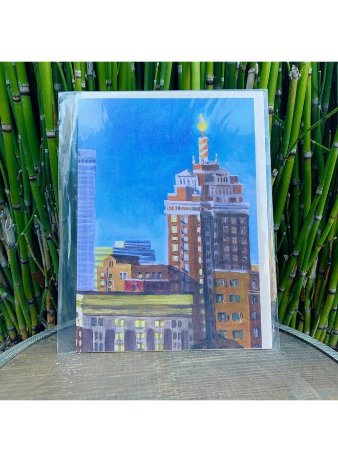 Downtown Tulsa #4 Birthday Card