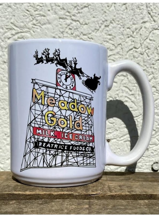 White Meadow Gold Diner Mug