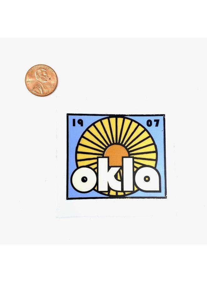 OKLA Sun Sticker
