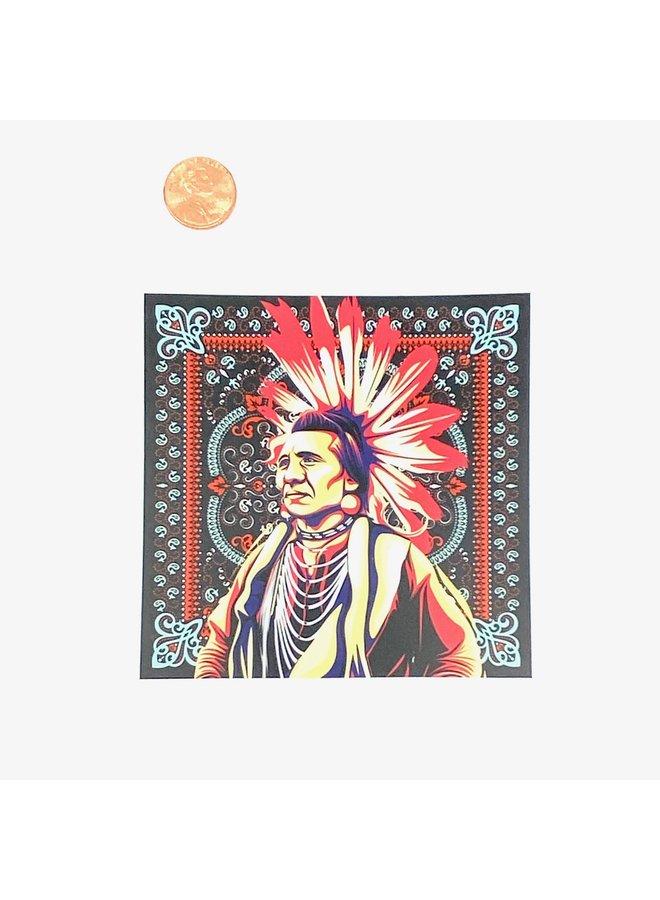 Native Tapestry Art Sticker