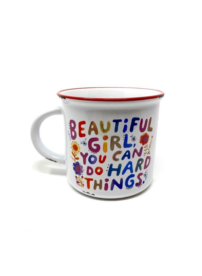 Beautiful Girl Camp Mug
