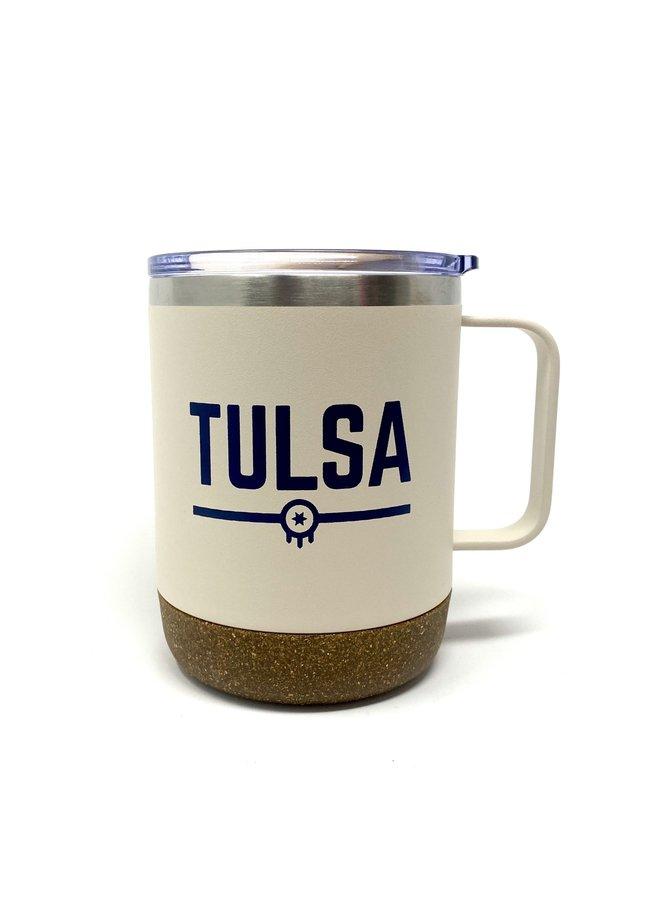 Tulsa Flag Insulated Mug - Matte Dew