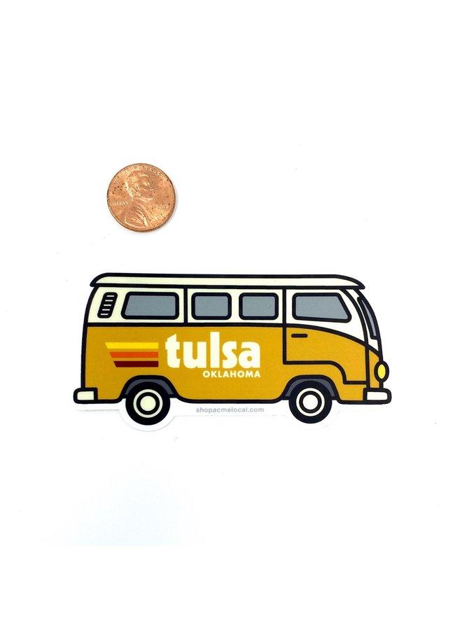 Tulsa VW Bus Mustard Sticker