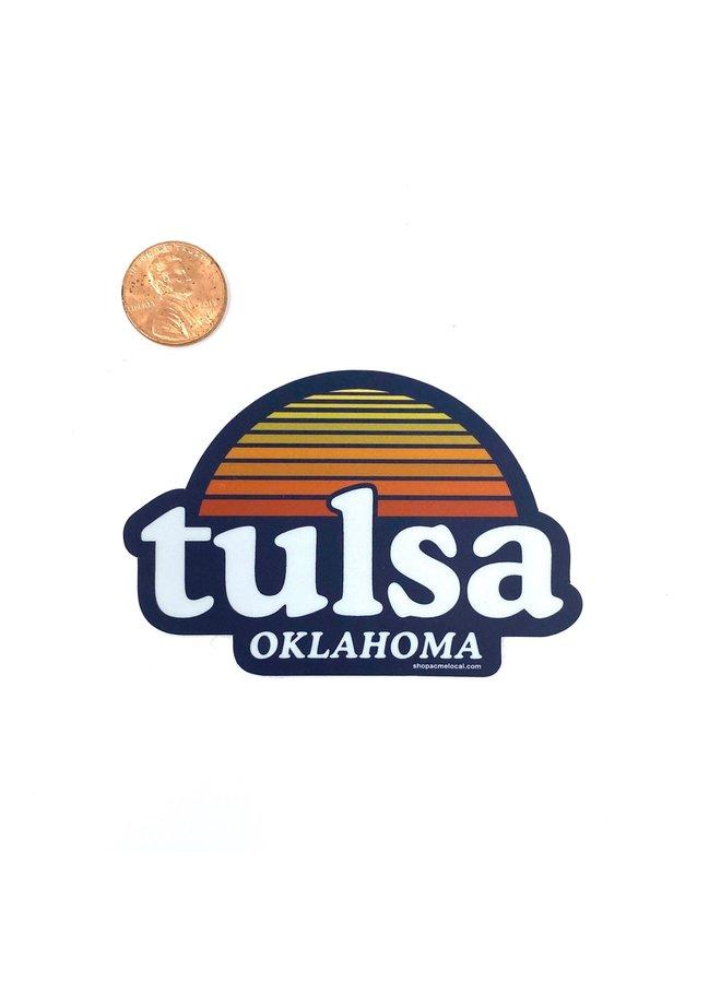 Tulsa Navy Sunset Sticker
