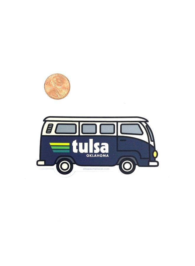 Tulsa VW Bus Navy Sticker