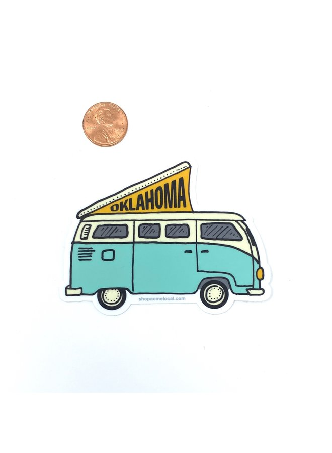 Oklahoma VW Camper Mint Sticker