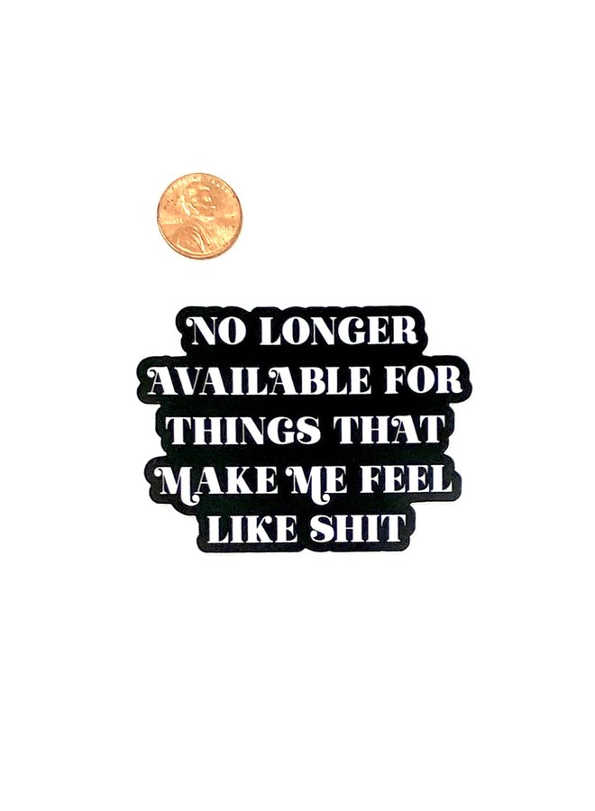 No Longer Available For Sticker