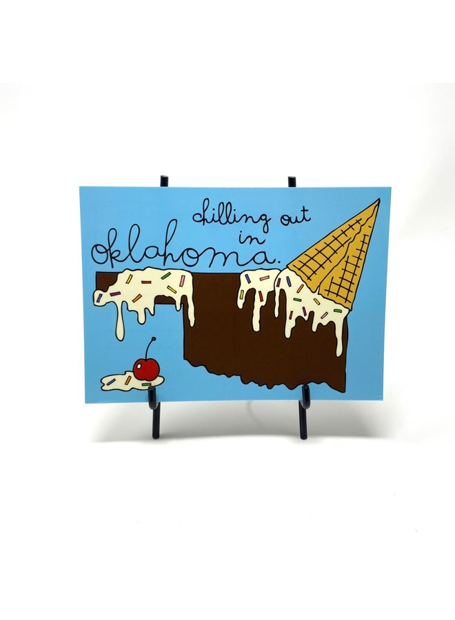 Ice Cream Oklahoma Postcard