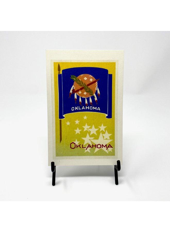 Oklahoma State Flag Postcard