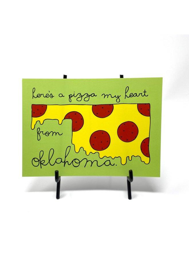 Pizza Oklahoma Postcard