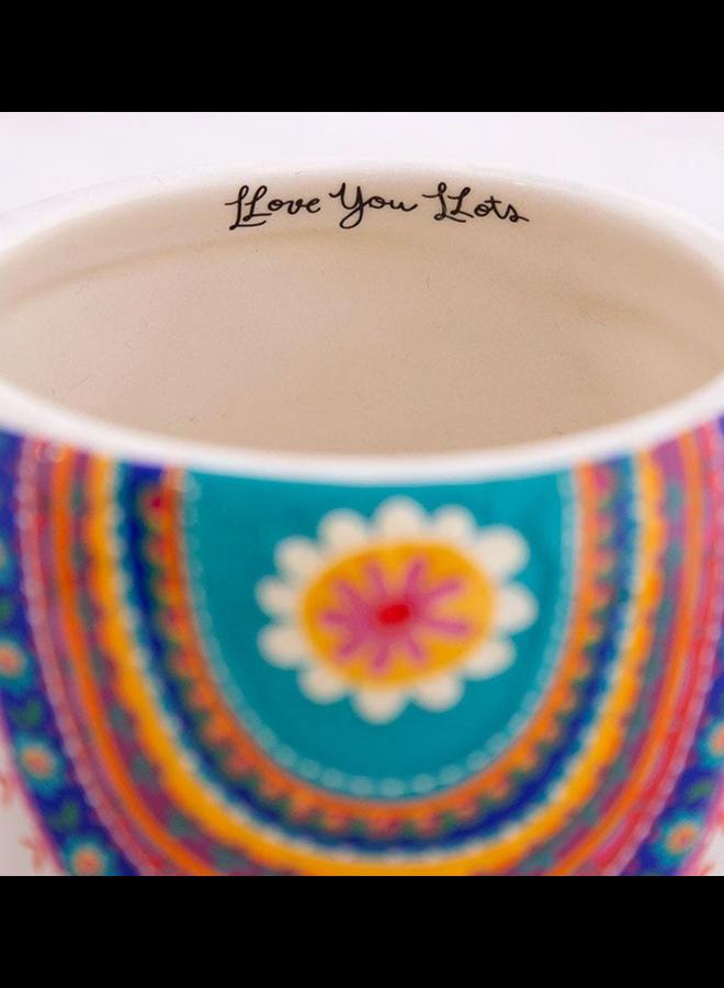 Grey Llama Folk Mug