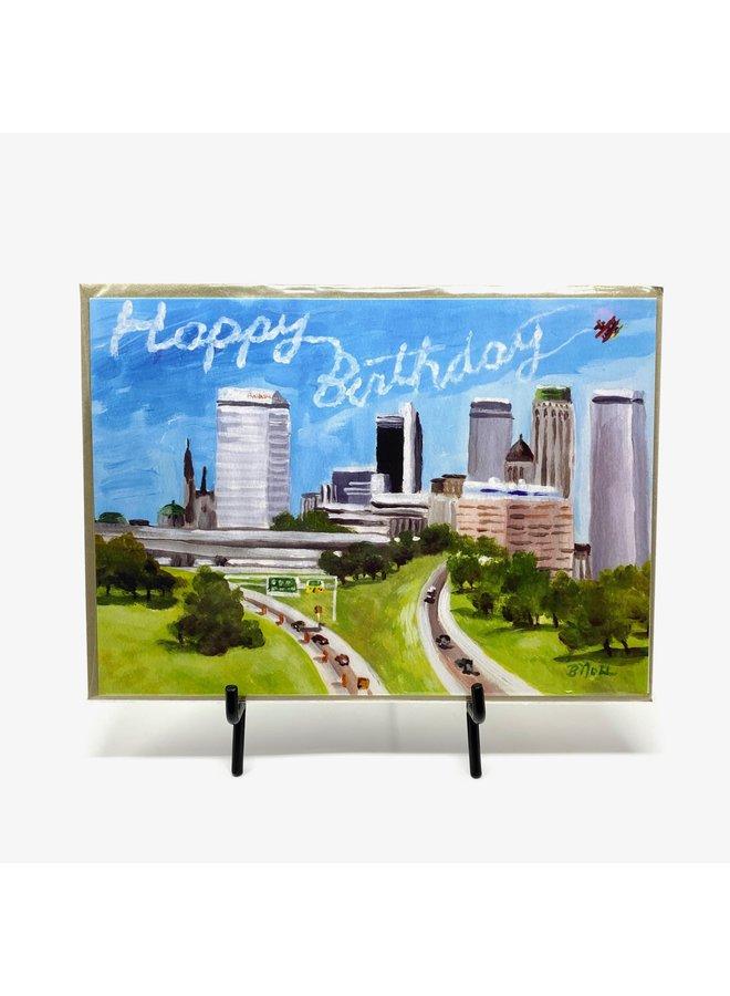 Downtown Tulsa Sky Writing Birthday Card