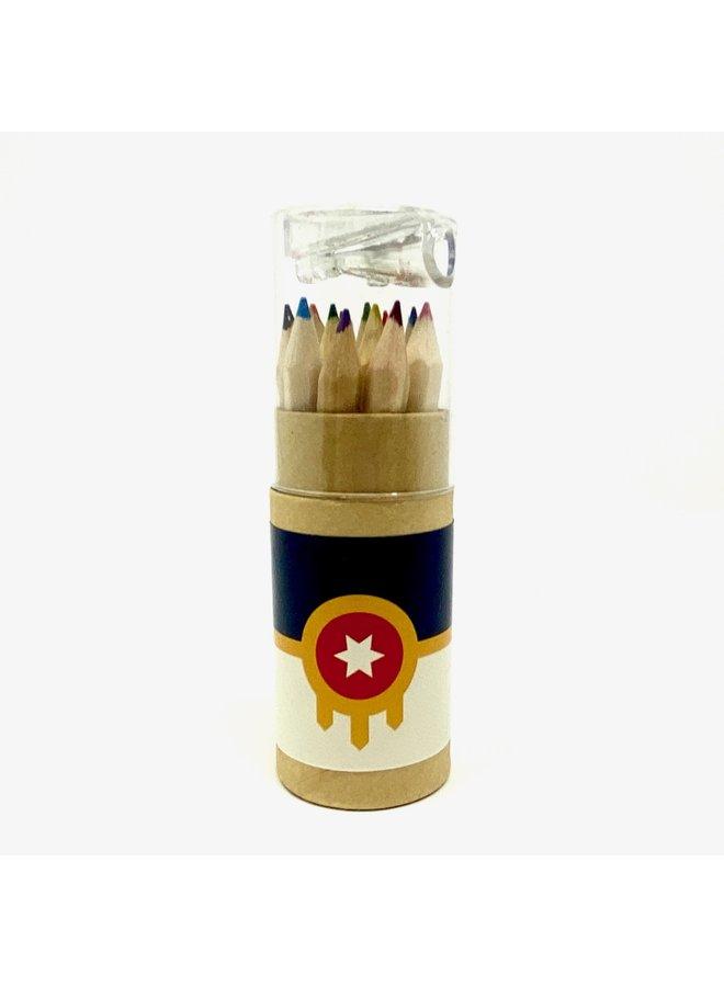 Tulsa Flag Colored Pencils