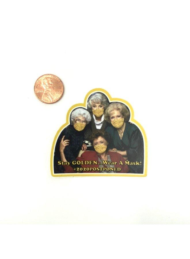 Stay Golden 2020 Sticker Small