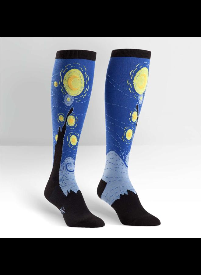 Starry Night Knee High Socks