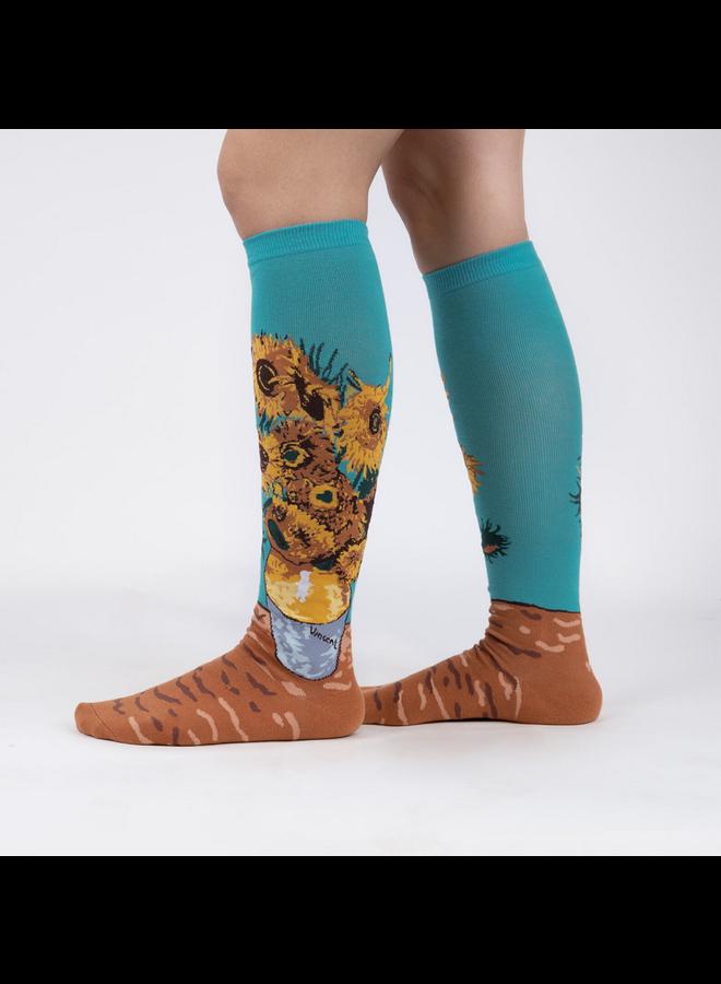 Sunflowers Knee High Socks