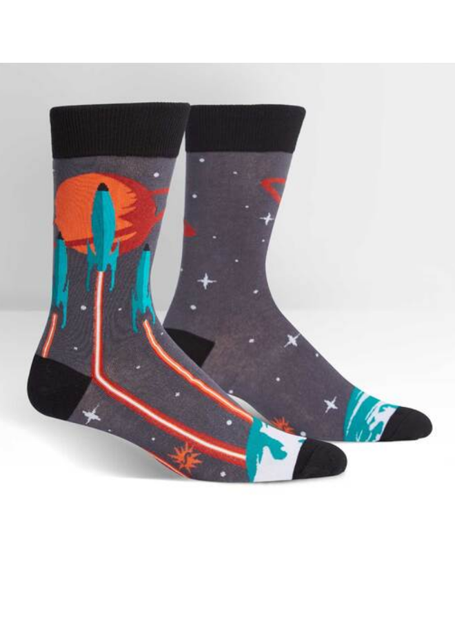 Launch From Earth Mens Crew Socks