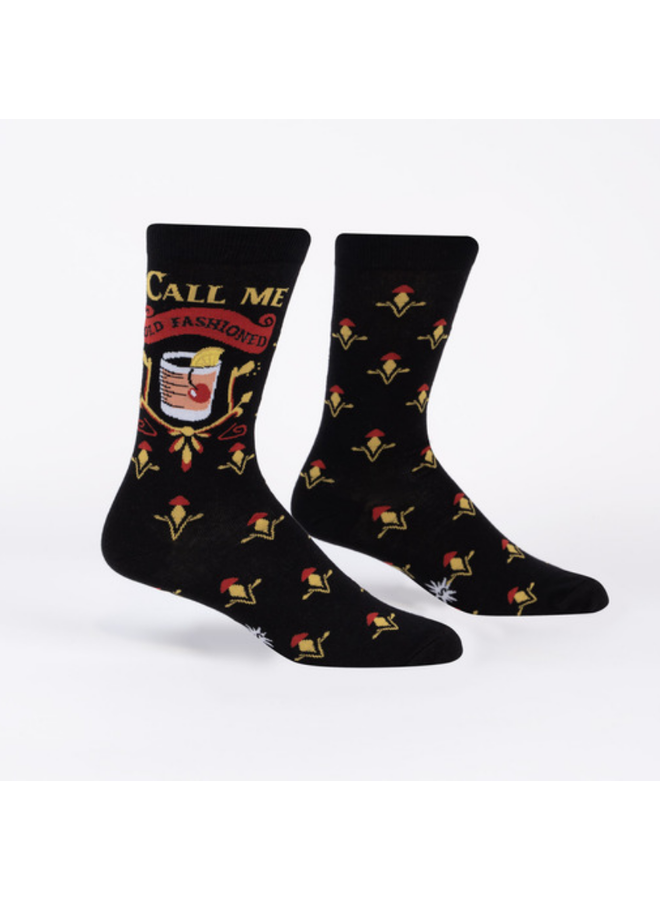 Call Me Old Fashioned Mens Crew Socks