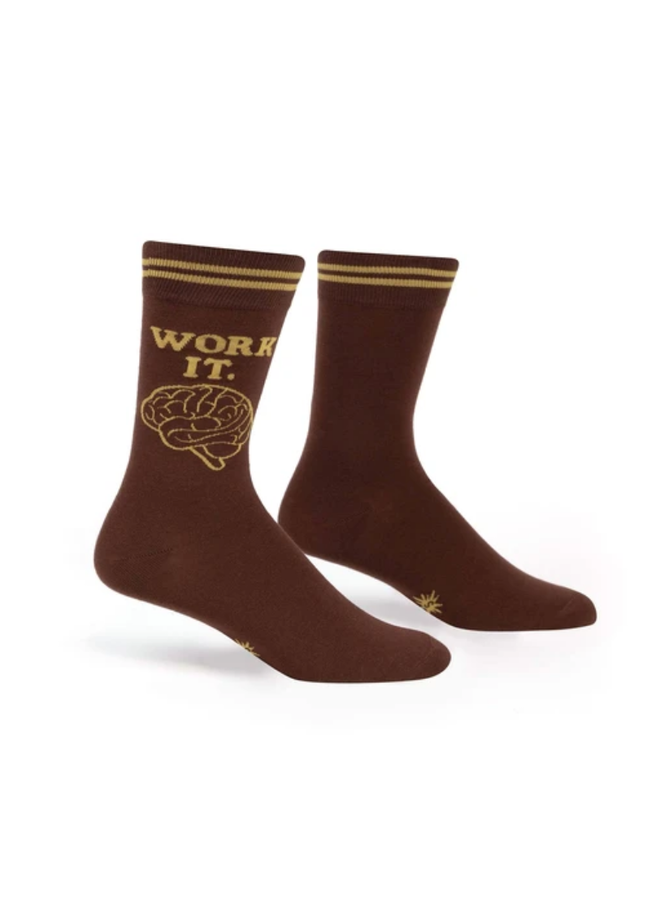 Work It Mens Crew Socks