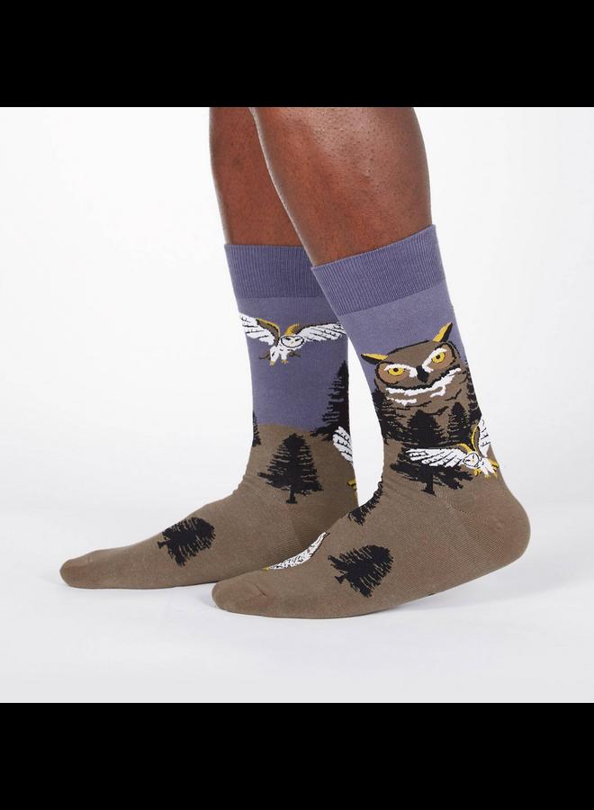 Owl Mountain Mens Crew Socks