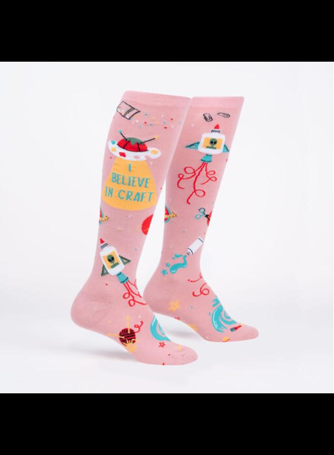 I Believe In Craft Knee High Socks