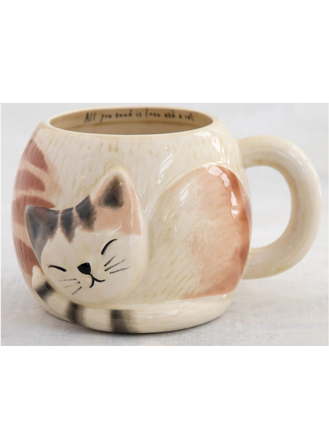 Sleeping Cat Folk Mug