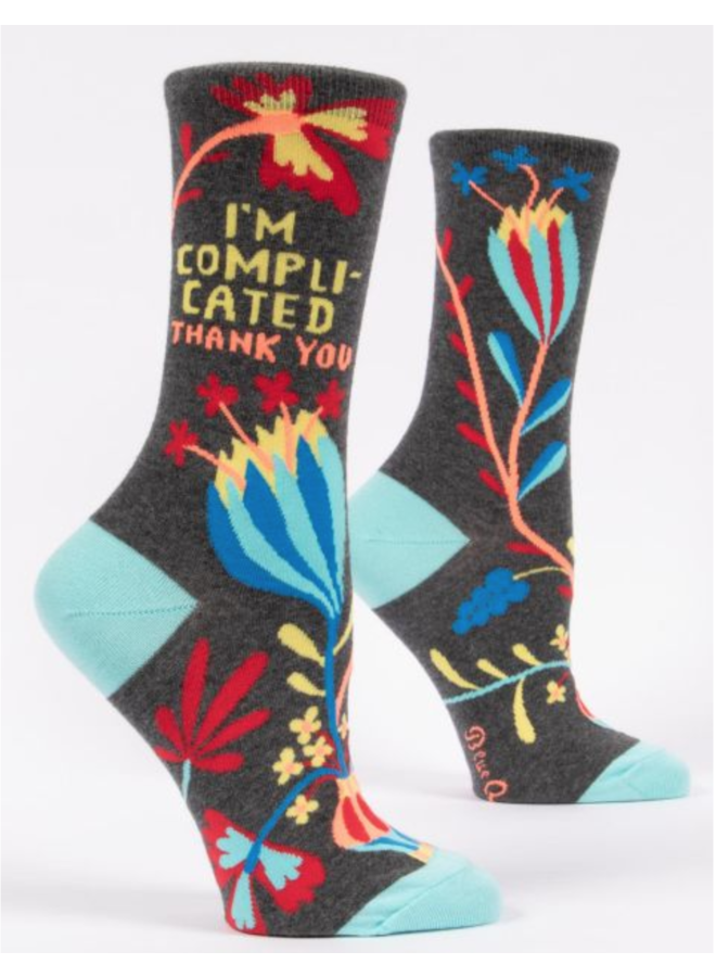 I'm Complicated Crew Socks