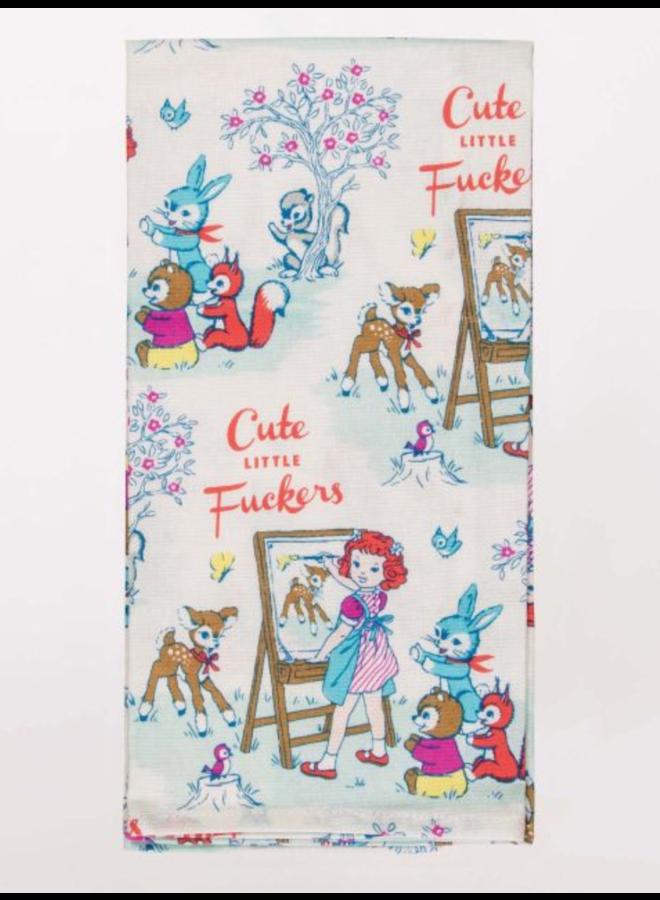 Cute Little Fuckers Dish Towel