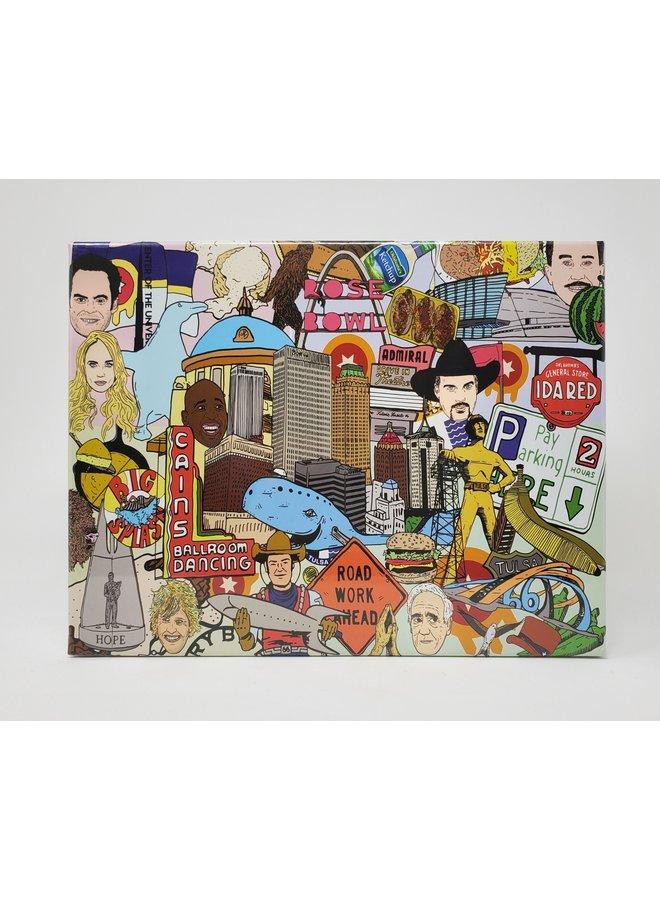 Tulsa Icons 1000pc Jigsaw Puzzle