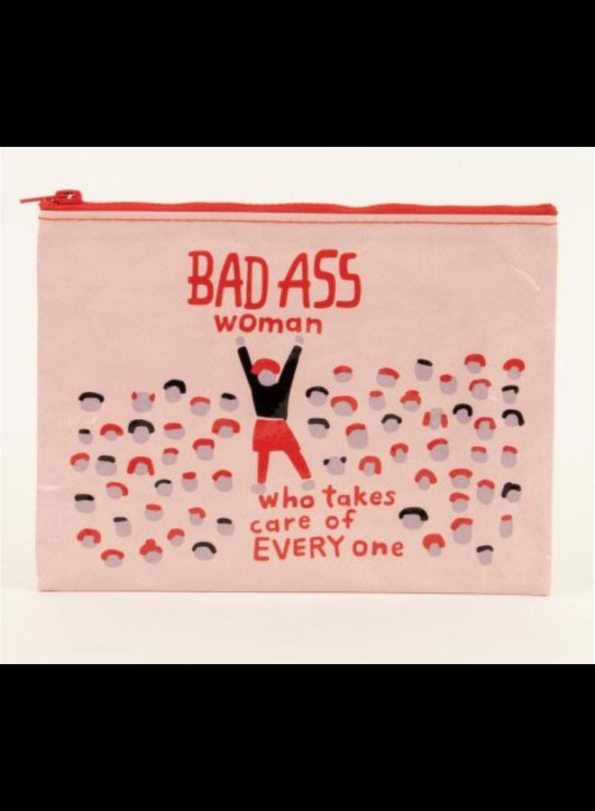 Bad Ass Woman Zipper Pouch