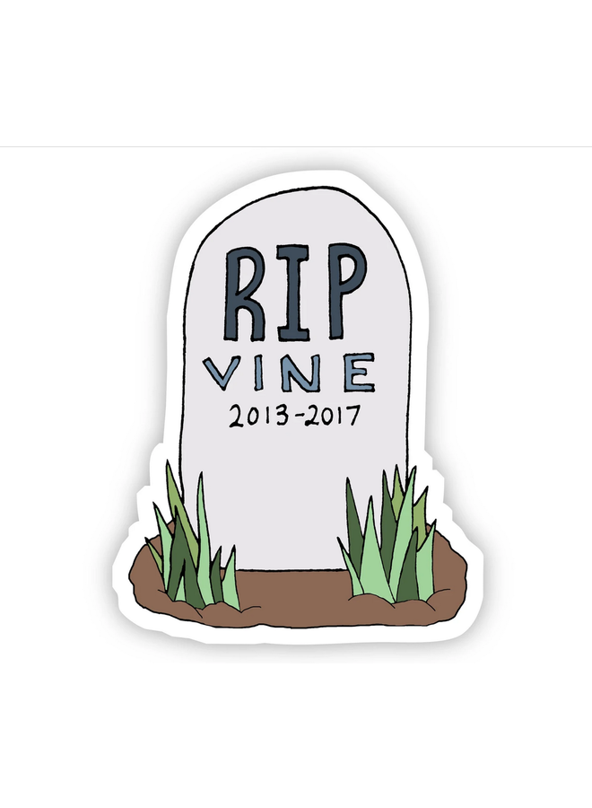RIP Vine Sticker