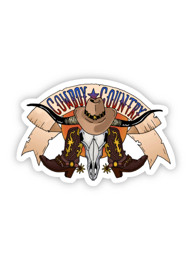 Cowboy Country Southern Sticker
