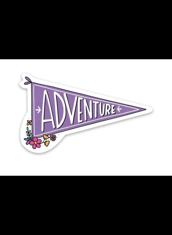 Adventure Flag Sticker