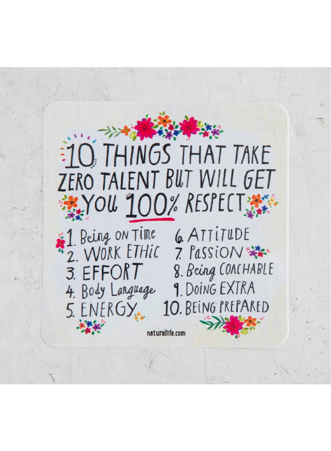 10 Things Get Sticker