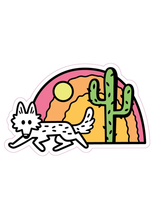 Desert Coyote Sticker