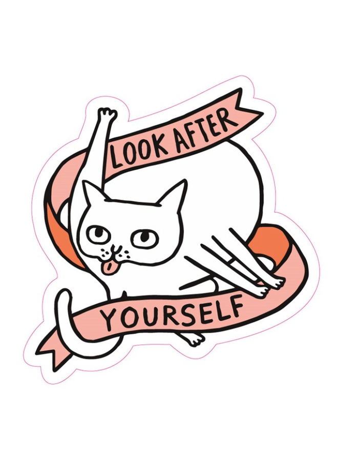 Take Care Of Yourself Cat Sticker