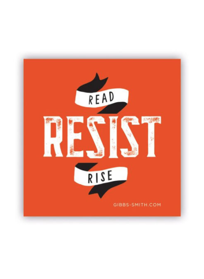 Read Resist Rise Sticker