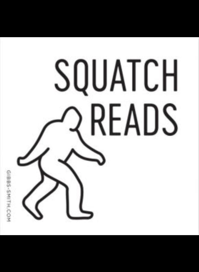 Sasquatch Reads Sticker