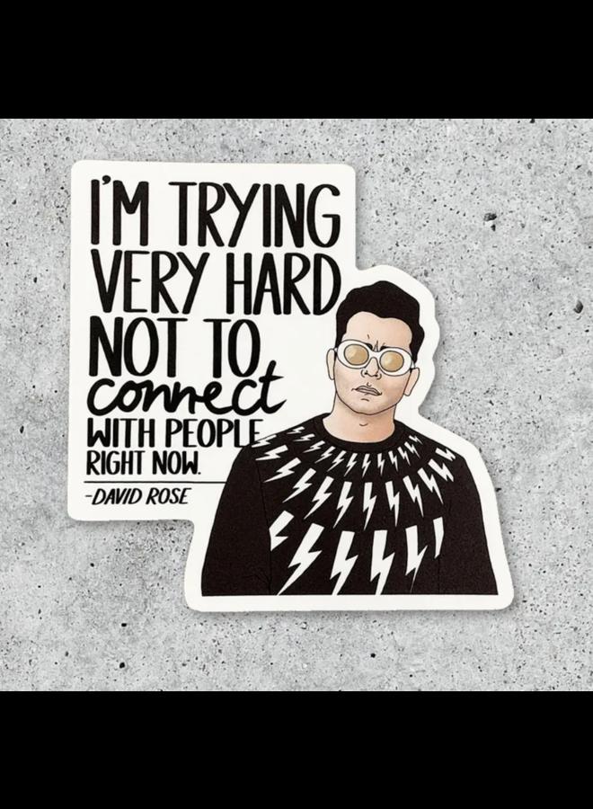 David Connect Sticker