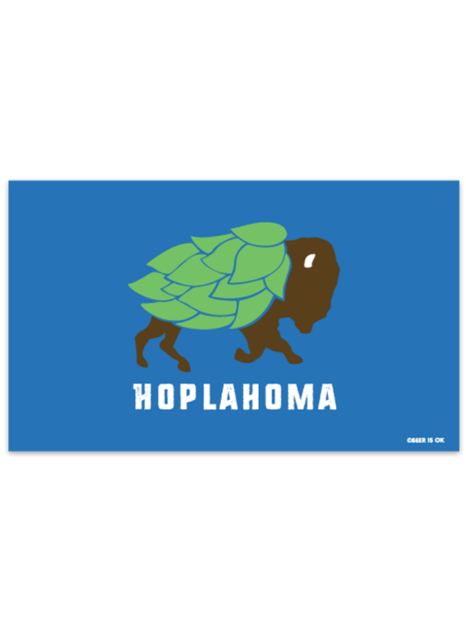 Hoplahoma Flag Sticker