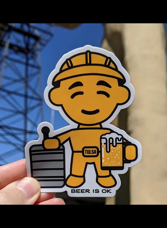 Driller Beer Pint Sticker