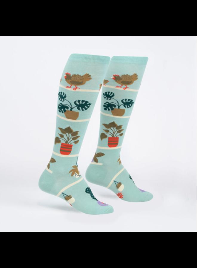 Hen And Chicks High Knee Socks