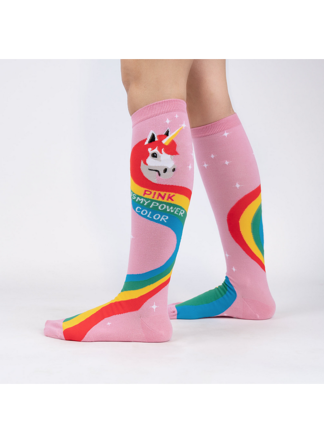 Rainbow Mane High Knee Socks