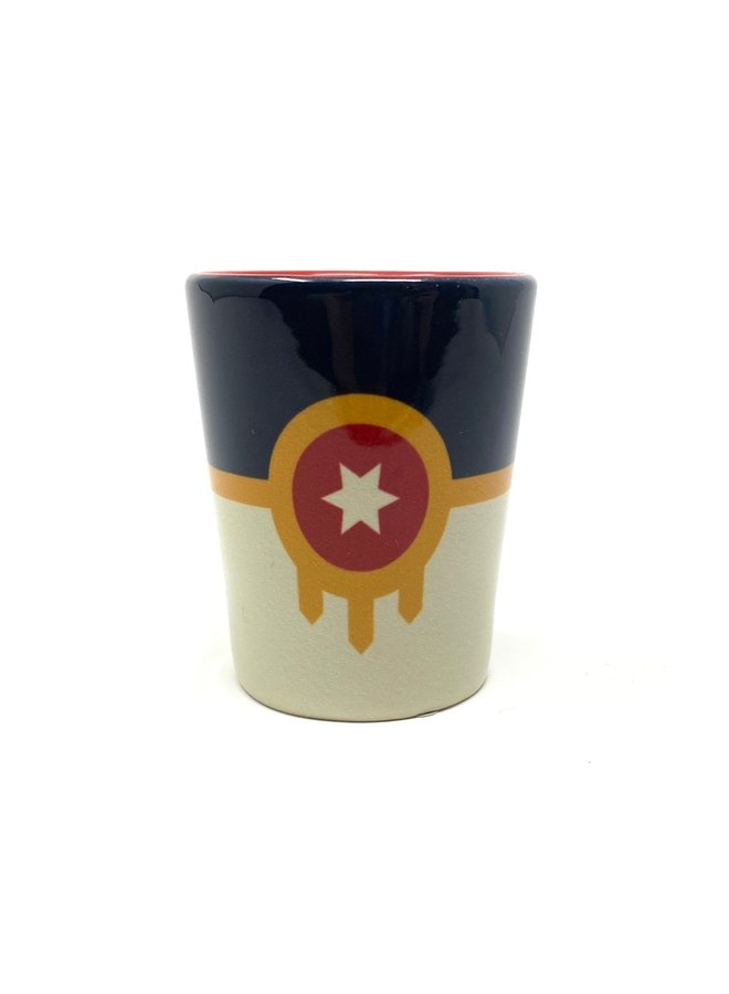 Tulsa Flag Shot Glass