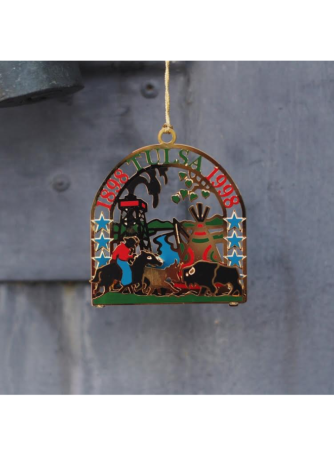 1998 Tulsa City Centennial Commemorative Ornament